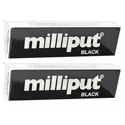 2 Paquetes de Masilla Milliput Negro Epoxi, para modelar, escultura, cerámica, pizarra, reparación