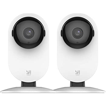 YI 2pc Smart Home Camera, 1080p WiFi IP Indoor Security Surveillance System with 24/7 Emergency Response, AI Human Detection, Night Vision,Pet Monitor on Phone/PC App - Cloud Service Available