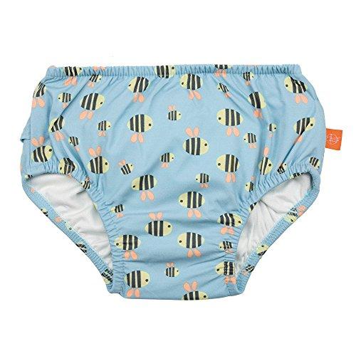 LÄSSIG Baby Schwimmwindel Badewindel wiederverwendbar waschbar Auslaufschutz UV-Schutz/Splash & Fun Baby Swim Diaper, Bumble Bee, 6 Monate