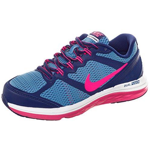 Nike Dual Fusion Run 3 Girls Running Shoes (Big Kid) 6Y Deep...
