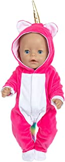 Licogel Doll Onesie Animal Horn Washable Rainbow Interactive Cloth Doll Night Clothes Interactive Cute Lovely