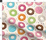 Spoonflower Stoff – Donuts Muster 1 Bonbons Obst