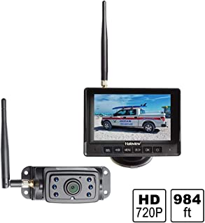 Haloview MC5111 5`` 720P HD Digital Wireless Backup Camera System 5`` LCD Rear View Monitor and IP69K Waterproof Reversing...