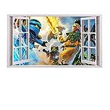 3D Fenster Kinder-Lieblings-Charaktere Wandtattoo, Vinyl,