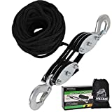 XSTRAP Heavy-Duty 2,000 LB Breaking Strength 50 FT Rope Hoist (Black)