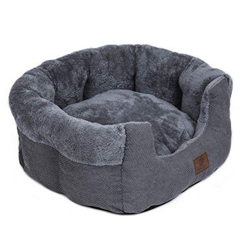 CHSDN Super Comfy Velvet Fleece Nest Model Round Shape Dog Beds Pet Beds Cat Cave for Dogs and Cats Anti Skid Cotton