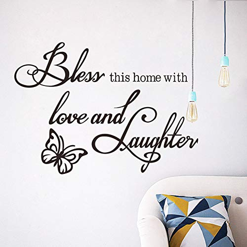 Vinilo adhesivo para pared con texto en inglés 'Family is Where Life Begins Black Hallway Hallway Living Room' (50 x 30 cm)