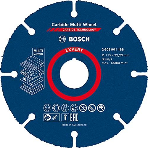 Bosch Professional 2608901188 - Disco de corte de ruedas (1 disco de metal duro, 115 mm, accesorios para amoladora de ángulo pequeño)
