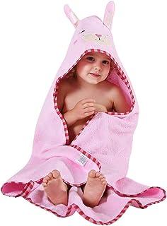 MICHLEY MICHLEY Kinder Mit Kapuze Babe Bad Handtuch,Tier Ärmellos Baumwolle Bademantel Für Kumpels Mädchen 0-6 JahrHell-Pink