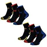 MT 6 Paar Herren Arbeits- & Freizeit Kurzschaft Sneaker Socken m. Frotteesohle Größe 39-42