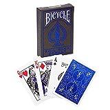 Bicycle MetalLuxe Cobalt. Baraja de Cartas Premium de Color Azul Metalizado para coleccionistas, Magos y cardistry. Tamaño Poker Standard 88x62 mm, (U.S. Playing Card Company 1041369)