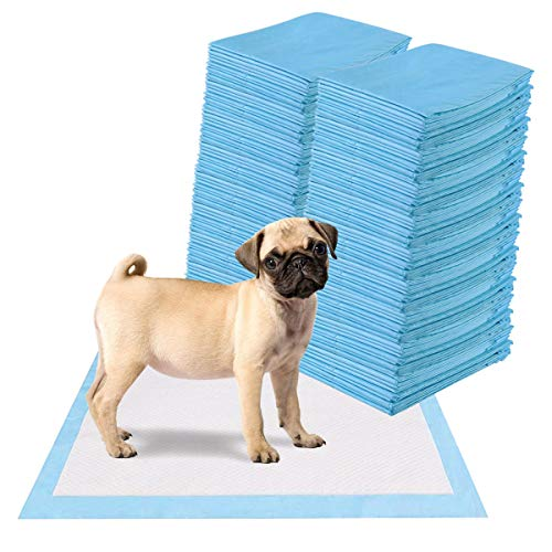 Giantex Puppy Pet Pads Dog Cat Wee Pee Piddle Pad, Powerful Absorption, 5-Layer Design, Comfortable Pet Training and Puppy Pads (200 Count, 24'' x 24'')