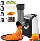 Electric Vegetable Graters Professional Salad Maker, Electric Slicer Shredder Graters for Kitchen, Electric Salad machine for Vegetables Carrot Cheese Black