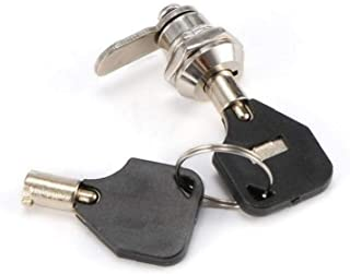 Qiwenr 6Pcs Cerradura para Buz/ón,16 mm Cerraduras para armario Cerradura de Seguridad para Buz/ón Cerradura Cilindro Con 12 Llaves,para Archivar Armario con Llaves Seguridad de Oficina