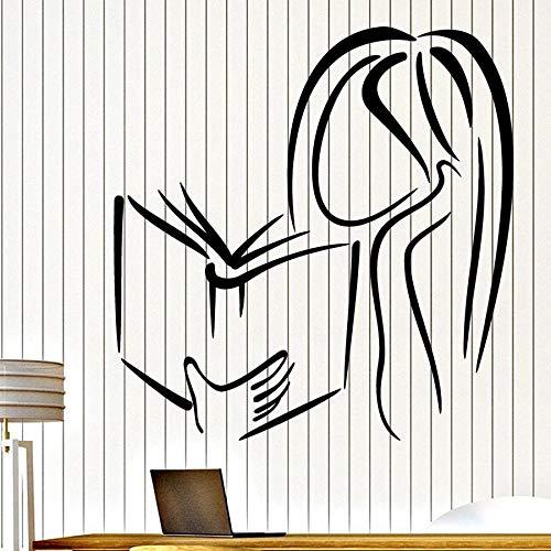 Tianpengyuanshuai fotobehang meisjes leesboek boekhandel bibliotheek zoeken hoek decoratie vinyl raamsticker meisje slaapkamer