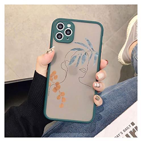 YLFC Funda De Teléfono con Diseño Geométrico Retro para iPhone, Funda Bonita Anticaída para iPhone 12 X XS MAX XR 11 Pro MAX 7 7 Puls 7 8 Puls SE 2020 (Color : Black Art 3, Size : For SE 2020)