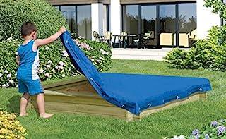 sandkastenabdeckung 120x 120cm, bleu plane pour Sable plane Couverture de protection de jardin Welt Verrou Berger