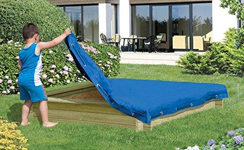 sandkastenabdeckung 120 x 120 cm, bleu plane pour Sable plane Couverture de protection de jardin Welt Verrou Berger