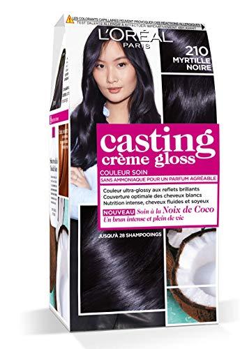 L'Oréal Paris Casting Crème Gloss Coloration Ton Sur Ton Sans Ammoniaque 2.10 Myrtille Noire - Lot de 2