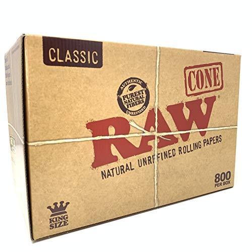 Imagen del productoCAJA DE 800 CONOS DE PAPEL DE LIAR RAW KING SIZE CLASSIC
