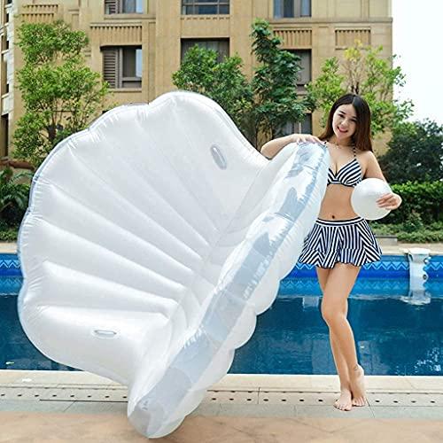 Aufblasbarer Schwimmring, Schwimmring Shell Aufblasbarer Floß-Pool-Float Erwachsene Kinder Spielzeug Aufblasbare Shell-Luftmatratze Sommer-Schwimmbad-Liegen Strandschwimmer und Liegen für Erwachsene