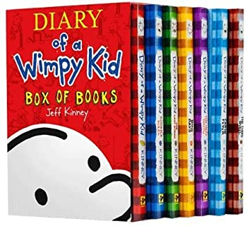 Diary of a Wimpy Kid Box of Books: Set #1-7 + Sticker Sheet - Book  of the Diary of a Wimpy Kid