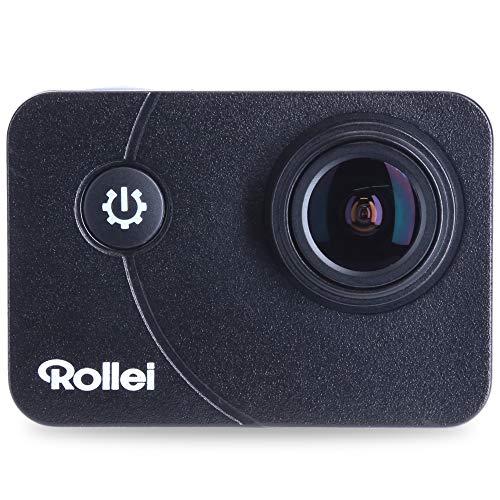 Rollei Action-Cam 5s Plus I 4K 30fps Unterwasserkamera mit Schutzgehäuse bis 40m Tiefe, Integriertes WiFi, Fahrrad-, Helm- und diversen Halterungen