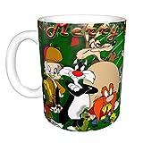 Looney Tunes - Taza de café de cerámica, taza de café, té, leche y Navidad, regalo para niñas amantes mágicos, 330 ml