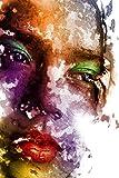 Pintura al óleo moderna sobre lienzo arte carteles e impresiones arte mural maquillaje mujer foto sala de estar decoración del hogar pintura sin marco Z15 50x70cm