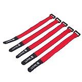 VGEBY1 Correa de Manillar de Bicicleta de 5 Piezas, Gancho de Nylon y amarres de Lazo Correa de sujeción(Rojo)