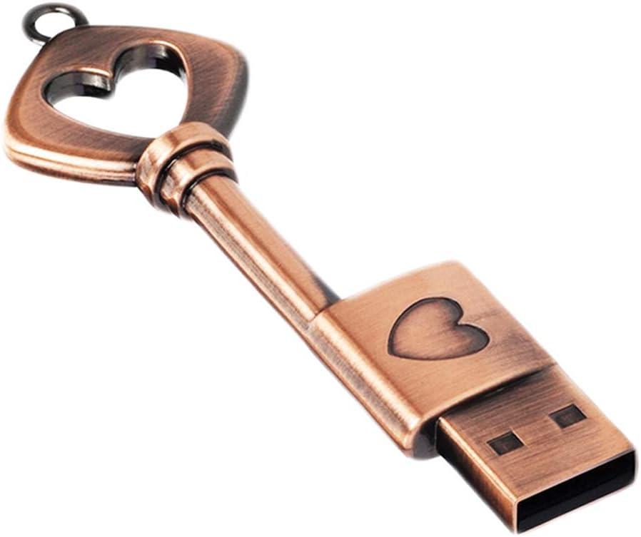 64GB Memoria USB Linda con Forma de Llave, Wiedeus Unidad Flash USB de Metal Retro, Pen Drive de Almacenamiento Externo