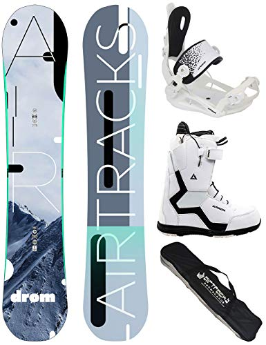 Airtracks Damen Snowboard Set/Drom Lady Rocker 145 + Snowboard Bindung Master + Snowboardboots Strong W QL 39 + Sb Bag