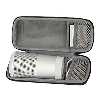 Custodia rigida per Bose SoundLink Revolve Bluetooth Speaker by CO2CREA Antipolvere shockproof e resistenza all'acqua, dotato di cinghia da polso. Materiale: Nylon, Colore: Nero Dimensioni Esterne: 22*8.6*8.6 cm,Peso: 200g in vendita è unico caso (al...