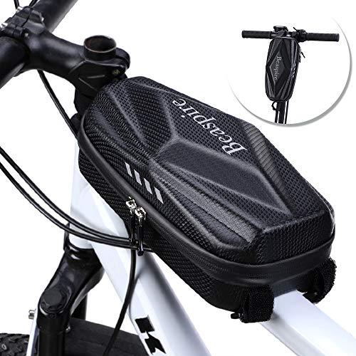Beaspire Fahrradtasche Fahrrad Rahmentasche Wasserdicht Rahmentasche für Mountainbike Scooter Lenker Tasche PU Leder Eva Material Hard Shell mit reflektierendem Streifen