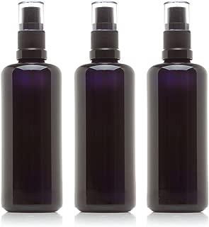 Infinity Jars 100 Ml (3.4 fl oz) Black Ultraviolet Glass Fine Mist Spray Bottle 3-Pack