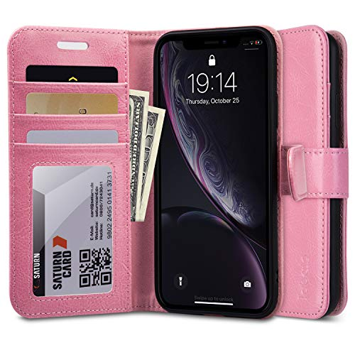 Labato Iphone Xr Wallet Case Stand Book Flip Folio Leather Covers Soft Tpu Bumper With Card Slots Magnetic Closure Gift Boxed For Apple Iphone