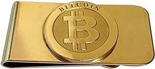 BTC Bitcoin - Fermasoldi con fermasoldi in contanti, placcato oro