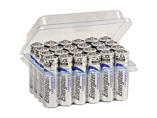 24x Energizer AA-Batterien Ultimate Lithium L91 für Blitzlicht Wildkamera Mignon im Big Box Pack von wns-emg-world