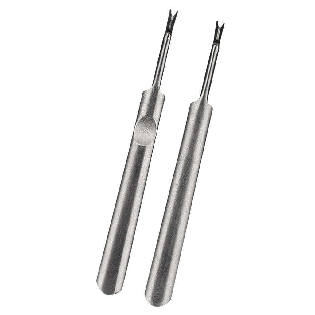 男らしい教師の日うれしい2本プロフェッショナルステンレス鋼ネイルキューティクルスプーンプッシャーネイルポリッシュリムーバーマニキュア