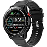"""DOOK Smart Watch for Men with Blood Pressure Heart Rate Monitor 1.3""""Full Touch, 10 Sport Modes Fitness Tracker Step Calorie Counter, Activity Tracker Smart Notification Android iOS"""