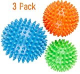 TLV Fitness Best Spiky Massage Roller Ball - 8 cm - Includes FREE Ebook.Perfect for Foot Massage, Back, Plantar Fasciitis & All Over Body Deep Tissue Therapy.