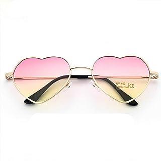 2c6d0693c2 GJYANJING Gafas De Sol Gafas De Sol con Forma De Corazón Las Mujeres Aman  El Espejo