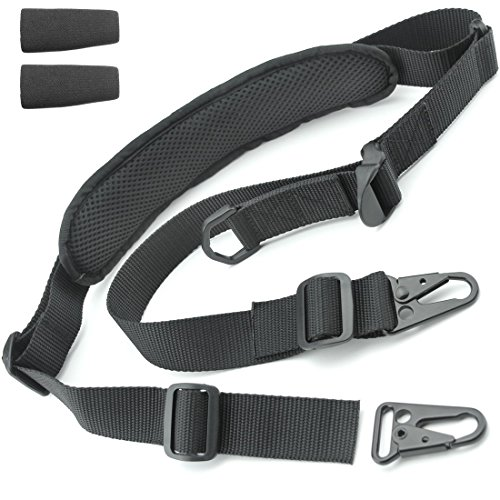 Tactical Hero 2 Point Rifle Sling - Fits Any Gun, Easy Length Adjuster, Shoulder Pad, 30'-56'-...