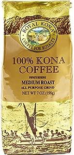 Royal Kona Coffee Private Reserve 100% KONA COFFEE, Ground, Medium Roast