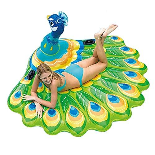 XBSXP Piscina Inflable Inflables Cama Flotante portátil Sillón para Adultos Piscina Jacuzzi, Fiesta de Verano Decoraciones de balsa para niños (Color: Azul, Tamaño: 185 * 155 * 90cm)