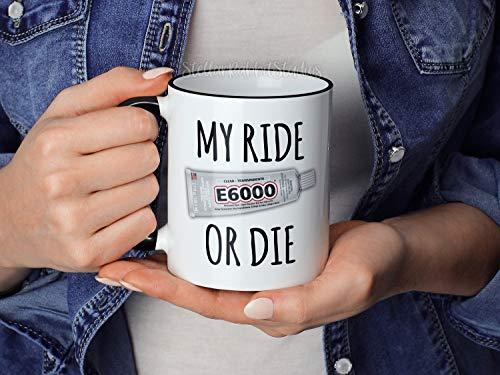 Mijn rit of doe-het-zelf mok Makers Koffiemok Creatieven Koffiemok Grappige e6000 Koffiemok Hot Lijm Gun Mok Crafting Mok Maak mooie dingen