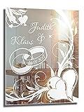NiTec Olbernhau Motivspiegel Ehe 1 ★ 30x40cm ★ Geschenk zur Hochzeit ★ Wedding ★ personalisiert