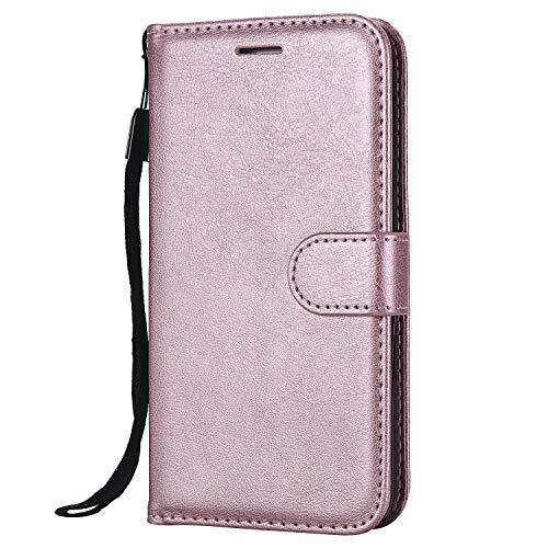 Carols Custodia per Samsung Galaxy S5, Cover per Samsung Galaxy S5 (5,1 Zoll) Custodia Libro Flip, [Portafoglio] Custodia di Pelle Case - Rosa