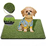 SKYJADE Professional Fake Grass Pad for Dogs,Puppy Training Pads,Washable Pee Pads for Dogs,Reusable Turf for Dogs,Pet Grass Indoor,Outdoor,Patio Tray Dog Potty,Easy to Clean 23.6x18.1x1.18 Inch