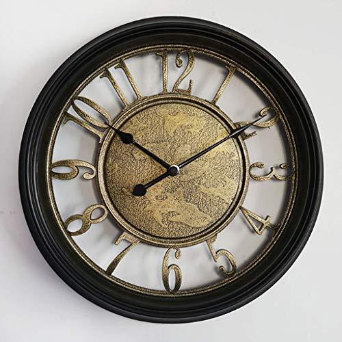 14.5 pouces européen rétro vieille horloge murale romaine country américain salon chambre horloge muet horloge